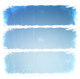 Grunge blue frames Royalty Free Stock Images