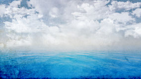 Grunge blue ocean landscape Stock Photography