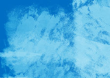 Grunge blue painted canvas Royalty Free Stock Photography