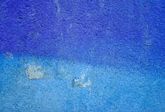 Grunge blue painted wall Stock Photos