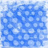 Grunge Blue Polka Dots Royalty Free Stock Photo
