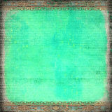 Grunge blue rococo frame. Grunge blue background with rococo borders Stock Photography