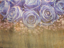 Grunge blue roses Stock Photo