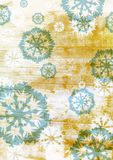Grunge blue snowflakes on brown Royalty Free Stock Photo
