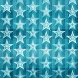 Grunge blue stars seamless pattern Stock Photo