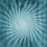 Grunge blue vintage sunburst swirl, twirl background texture Stock Image
