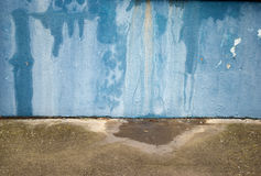 Grunge Blue Wall. Exterior wall affected by damp Royalty Free Stock Images