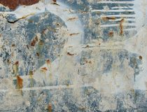 Grunge blue white rusty metal with leak drip Stock Photos