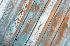 Grunge blue wooden wall texture. Royalty Free Stock Image