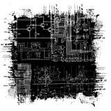 Grunge blueprint Stock Photo