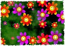 Grunge Blumen Stockbilder
