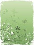 Grunge Blumen und Basisrecheneinheiten lizenzfreie abbildung