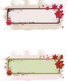 Grunge Blumenfahne Stockfoto