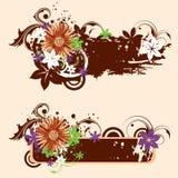Grunge Blumenfahnen Lizenzfreie Stockfotos