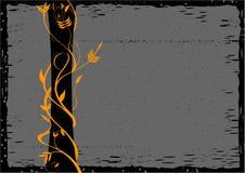 Grunge Blumenhintergrund Lizenzfreie Abbildung
