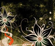 Grunge Blumenhintergrund Lizenzfreies Stockfoto