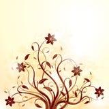 Grunge Blumenhintergrund Stockfotografie