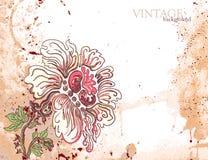 Grunge Blumenhintergrund mit Blume Lizenzfreies Stockfoto