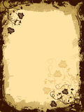 Grunge Blumenrand, Vektor vektor abbildung