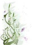 Grunge Blumenvektor Stockfoto