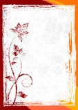 Grunge Blumenvektorfeld Lizenzfreies Stockbild