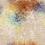 Grunge blur pattern with manuscript elements Stock Photography