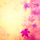 Grunge blurred autumn season copy space illustration background Stock Photo