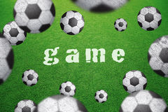 Grunge blurred balls with game word background Royalty Free Stock Images