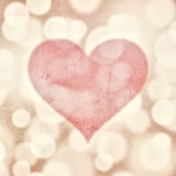 Grunge blurred valentine red heart Royalty Free Stock Images
