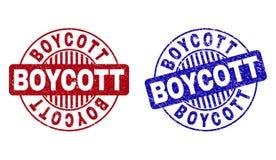 Grunge bojkot Textured Woko?o Stemplowych fok royalty ilustracja