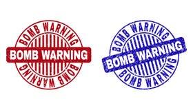 Grunge BOMBOWEGO ostrzeżenia Round Porysowani Watermarks ilustracji