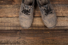 Grunge boots Royalty Free Stock Photo