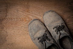 Grunge boots Stock Photography