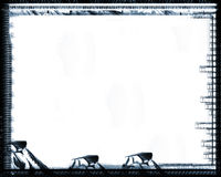 Grunge border. Computer designed grunge border over white Stock Images