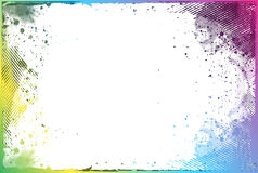 Grunge border. Grunge color border with space of your text, vector illustration Royalty Free Stock Image