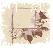Grunge border. Rusty vector border for your messages and designs Royalty Free Stock Photo