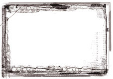 Grunge border. Computer designed highly detailed grunge border with space for your text or image. Great grunge layer for your projects Stock Image