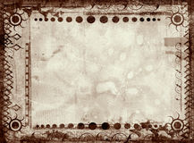 Grunge border and background Royalty Free Stock Image