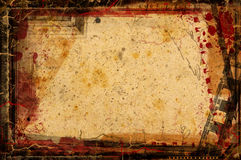 Grunge border and background Royalty Free Stock Images