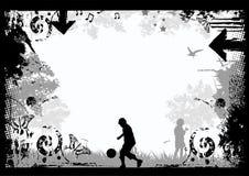 Grunge Border Background stock illustration