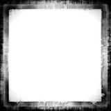 Grunge Border Frame. Black grunge border frame on white copy space for background designs Royalty Free Stock Photos