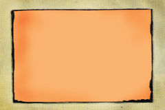 Grunge border - put your images in. Cut out the orange and place your own images or letters inside vector illustration