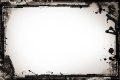 Grunge border on white Stock Photo