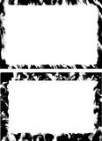 Grunge Borders II. Pair of rectangular  grunge backgrounds from original ink drawings Royalty Free Stock Photography