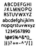 Grunge borstat alfabet Royaltyfria Foton