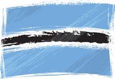 Grunge Botswana flag. Botswana national flag created in grunge style Stock Photos