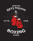 Grunge boxing motivation poster and print Stock Image