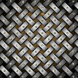 Grunge Braided Metal Background Stock Photos