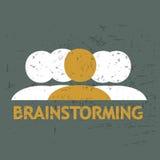 Grunge Brainstorming Stock Image