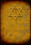 Grunge brandde Joodse achtergrond met de ster van David stock illustratie